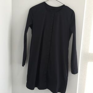 COS Shirt Tunic Navy Blue Long Sleeve Dress Size 4